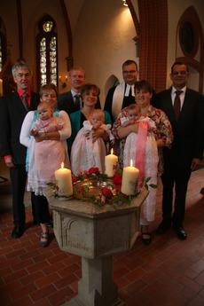 Taufe von Pia, Marie und Henriette