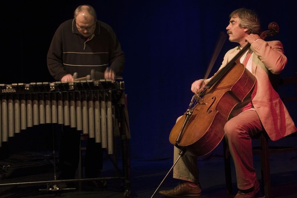 Ulrich Thiem (Cello) und Andreas Böttcher (Vibraphon)