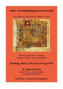 Keltische Lieder und Harfenklänge zur Sommerzeit @ St. Johannis-Kirche Hitzacker