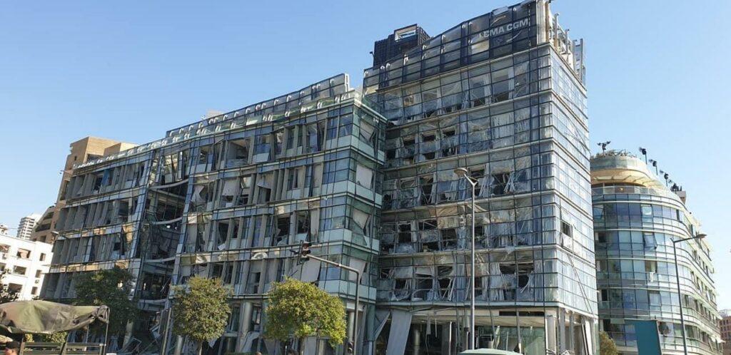 Zerstörtes Haus in Beirut